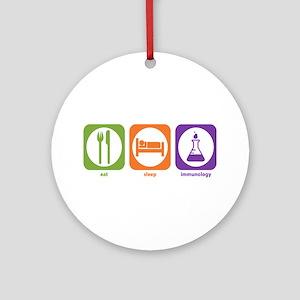 Eat Sleep Immunology Ornament (Round)