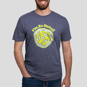 45 RPM Adapter So Retro Mens Tri-blend T-Shirt