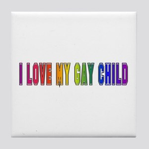Gay Child Tile Coaster