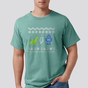 Robot Ugly Sweater Mens Comfort Colors Shirt