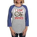 LOVE SNAKES.jpg Womens Baseball Tee