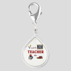 Teachers Do It With Class Silver Teardrop Charm