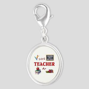 Teachers Do It With Class Silver Oval Charm