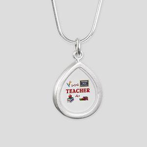 Teachers Do It With Class Silver Teardrop Necklace