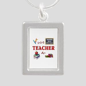 Teachers Do It With Class Silver Portrait Necklace