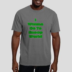 snoopworldteefrontBlack. Mens Comfort Colors Shirt