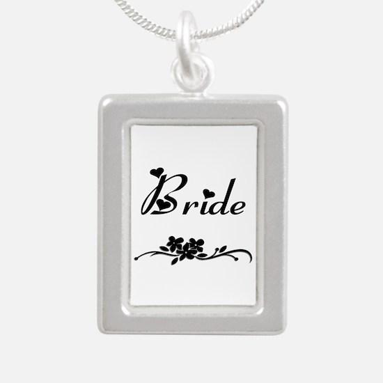 Classic Bride Silver Portrait Necklace