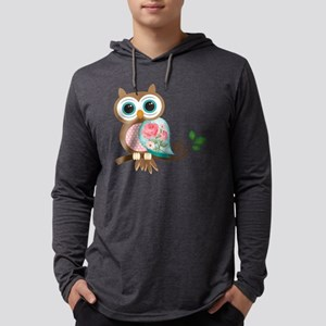 Vintage Owl Mens Hooded Shirt