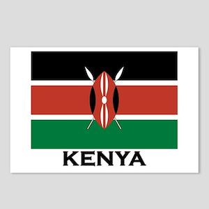 Kenya Flag Merchandise Postcards (Package of 8)