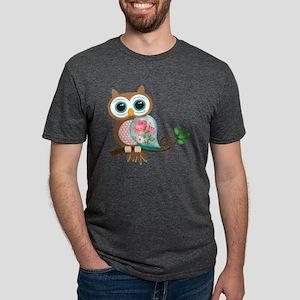 Vintage Owl Mens Tri-blend T-Shirt