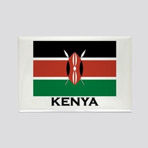Kenya Flag Merchandise Rectangle Magnet
