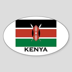 Kenya Flag Merchandise Oval Sticker