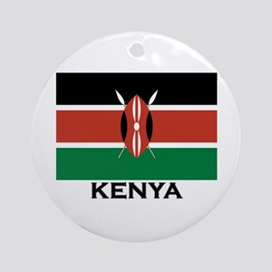 Kenya Flag Merchandise Ornament (Round)