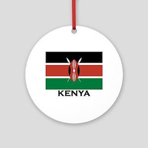 Kenya Flag Merchandise Ornament (Round)