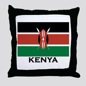 Kenya Flag Merchandise Throw Pillow