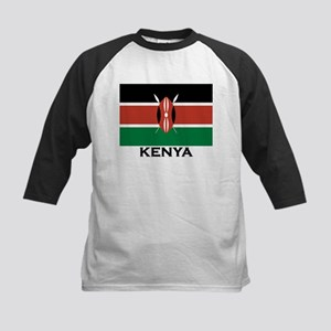 Kenya Flag Merchandise Kids Baseball Jersey