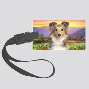 Sheltie Meadow Large Luggage Tag