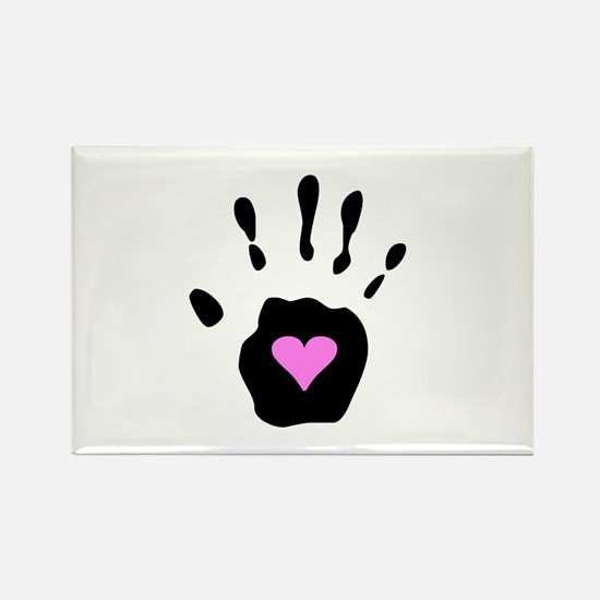 Heart in Hand Rectangle Magnet