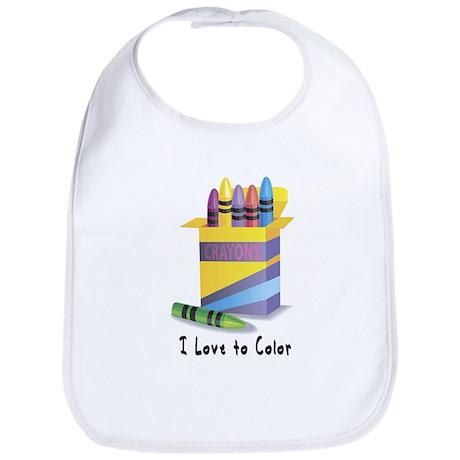 Jwish Kids Love To Color Bib