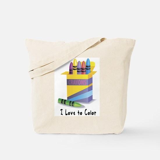Jwish Kids Love To Color Tote Bag