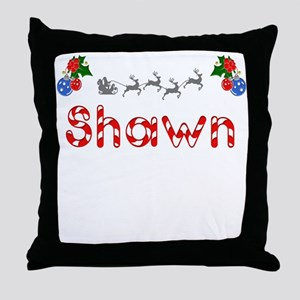 Shawn, Christmas Throw Pillow