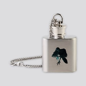 Light Raven Transparent Flask Necklace