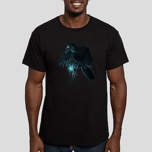 Light Raven Transparent Men's Fitted T-Shirt (dark