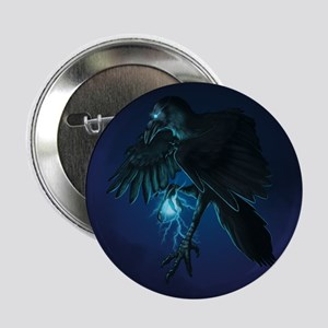 "Light Raven Print 2.25"" Button"