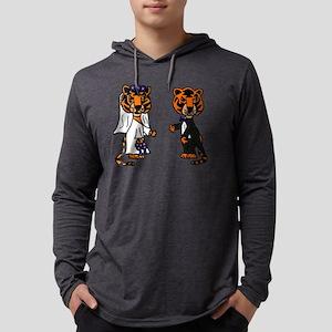 Tiger Wedding Mens Hooded Shirt