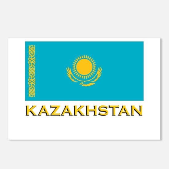Kazakhstan Flag Stuff Postcards (Package of 8)