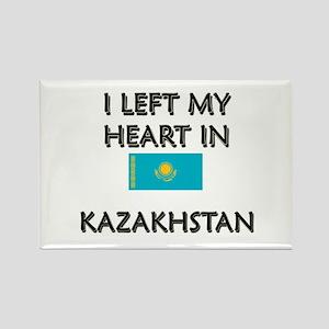 I Left My Heart In Kazakhstan Rectangle Magnet