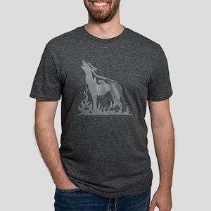 WolfAA024 Mens Tri-blend T-Shirt