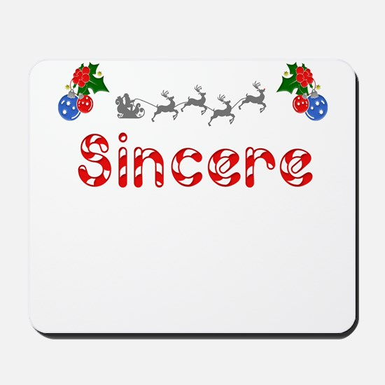Sincere, Christmas Mousepad