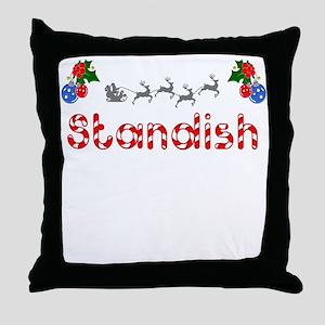 Standish, Christmas Throw Pillow