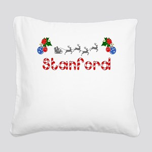 Stanford, Christmas Square Canvas Pillow