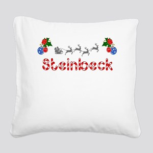 Steinbeck, Christmas Square Canvas Pillow