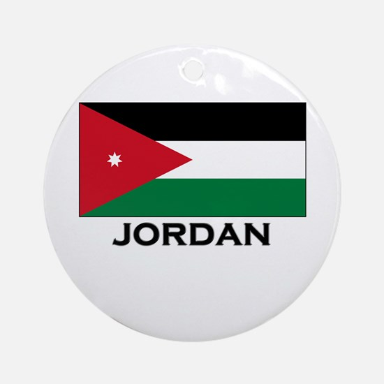 Jordan Flag Merchandise Ornament (Round)