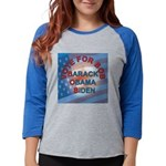 Vote BOB BIG Button 203_H_F co Womens Baseball Tee