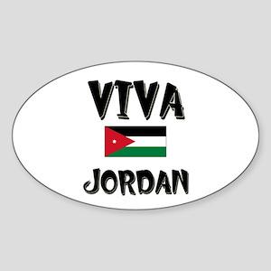 Viva Jordan Oval Sticker