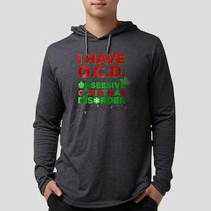 OCD Obsessive Christmas Disorder Mens Hooded Shirt