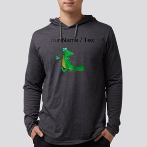 Custom Cartoon Alligator Mens Hooded Shirt