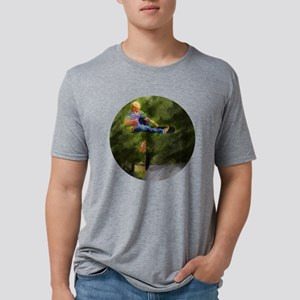 Skateboard on a Ramp Mens Tri-blend T-Shirt
