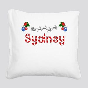 Sydney, Christmas Square Canvas Pillow