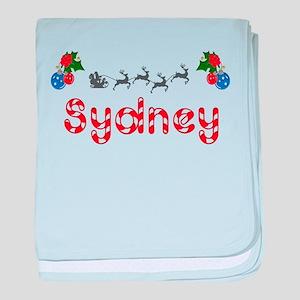 Sydney, Christmas baby blanket