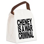 Cheney Is A War Criminal Canvas Lunch Bag
