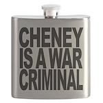 Cheney Is A War Criminal Flask