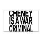 Cheney Is A War Criminal Rectangle Car Magnet