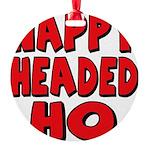 nappyheadedhoredblk Round Ornament