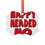 nappyheadedhoredblk Picture Ornament