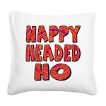 nappyheadedhohypnoticblk Square Canvas Pillow
